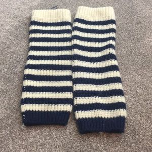 Accessories - Stripe knitted leg warmers